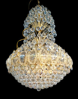 8334N-21 Light Crystal Gold Chandelier