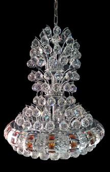 NM8323-15 Light Crystal Chrome Chandelier