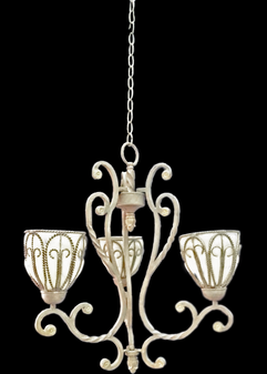 S-301314-3 Light Glass Iron Chandelier