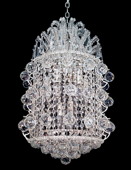 5172-9 Light Crystal Silver Chandelier
