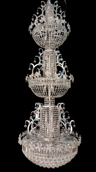 KD92085D-69 Light Crystal Chrome Chandelier