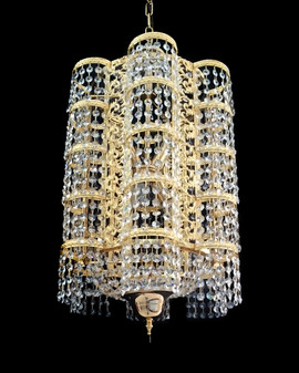 6722/38-5 Light Crystal Gold Chandelier