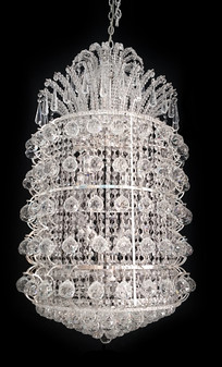5172-31 Light Crystal Silver Chandelier