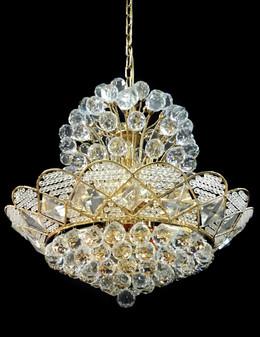 JD88278-12 Light Crystal Gold Chandelier