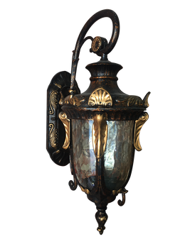 RH-048 B/DN (L) RBG Metal Glass Black Bronze Outdoor Lightning