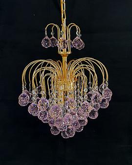 PD-40/D40 H45 CM GOLD PINK Metal Crystal Chandelier lighting