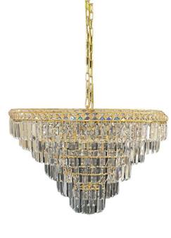 SP-2021/5L  Gold Metal Crystal Chandelier Lighting
