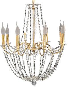 9018/8 GOLD/C Metal Crystal Classic Chandelier Indoor/Living room/Bedroom Lighting