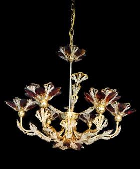 YD3203-6 Light Crystal Gold Chandelier