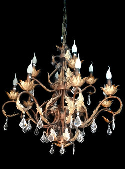SY12685-12 Light Wrought Iron Chandelier