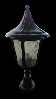 312 Glass Brown Outdoor Post Light