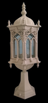 DF5000 Glass White Outdoor Post Light