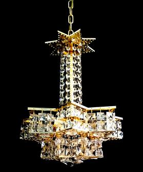 5002-4 Light Crystal Gold Chandelier