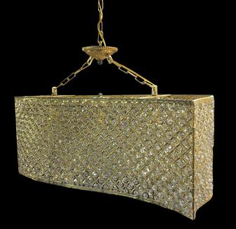 9131-3 Light Iron Gold Champagne Pendant Lighting