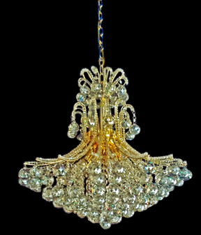 2198-10 Light Crystal Gold Champagne Chandelier