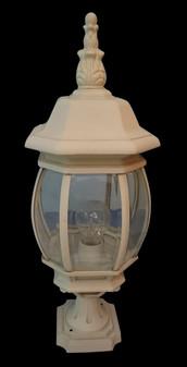 DF 5003 Glass White Outdoor Post Light