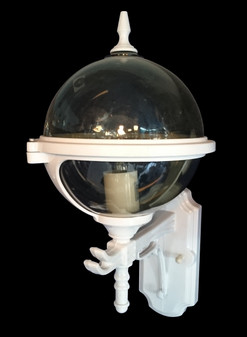 480 Glass White Outdoor Post Light
