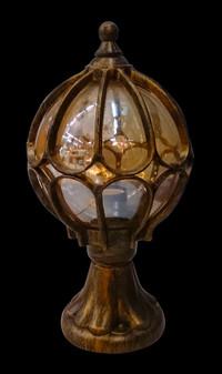 4078-S1(S)  Glass Black Gold Outdoor Post Light