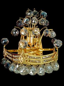 2322WB-4 Light Crystal Gold Sconce