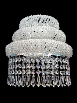 29199330-3 Light Crystal Chrome Sconce