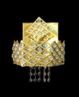 A9760-1 Light Crystal Gold Sconce