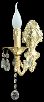 Al Masah Crystal Candlelit Wall Light - WAL00285