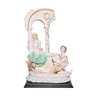 Al Masah Crystal Ceramic Multi Color Guitar Serenading Statue - OTH00034