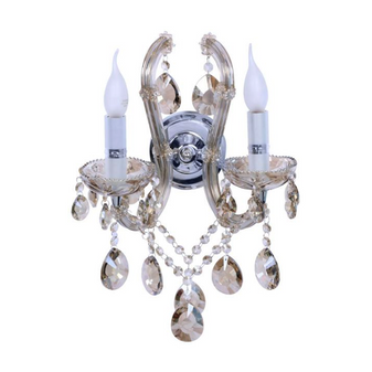 Al Masah Crystal Two Candlelit Wall Light - WAL00097