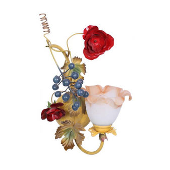 Al Masah Crystal Pollinating Flower Wall Light - WAL00032