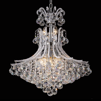 2198-13 Light Crystal Chrome Chandelier