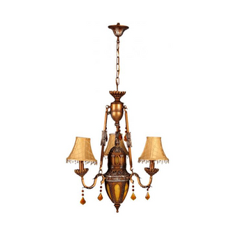 Al Masah Crystal Antique Tri Shade Chandelier - CHA00435