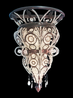 0606-2 Light Crystal Iron Sconce