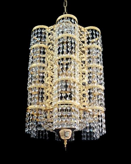 6722/38-5 Light Crystal Gold Chandelier