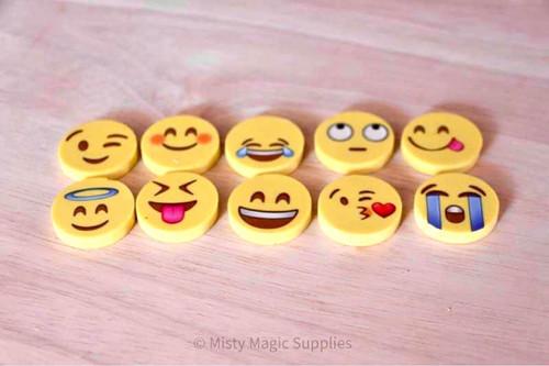 Emoji Eraser Toys 10 pk