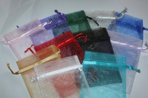 Burgundy 4 x 6 Organza Bags (10 ct)