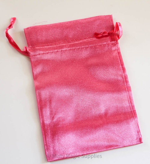 Hot Pink 4 x 6 Satin Bags (5 ct)
