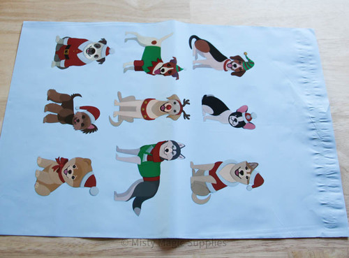 10 x 13 Holiday Dogs Poly mailer- 10 ct