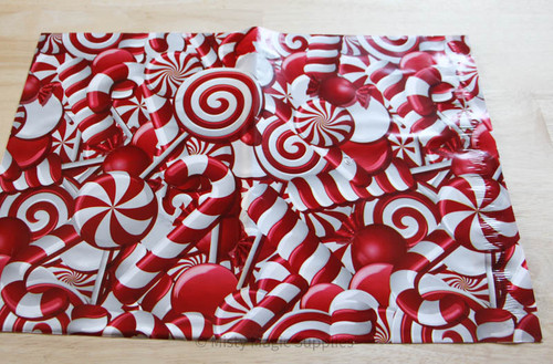 10 x 13 Candy Cane Poly mailer- 10 ct