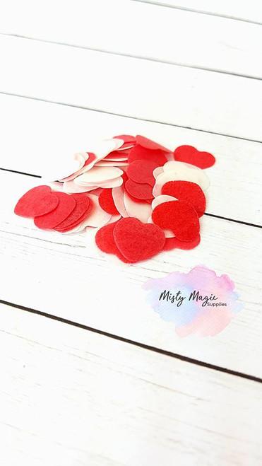 Red Hearts Bath Confetti 1 oz