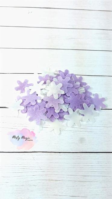 Purple and White Flowers Bath Confetti 1 oz