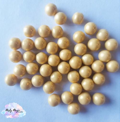 Gold Sugar Pearls  1 oz