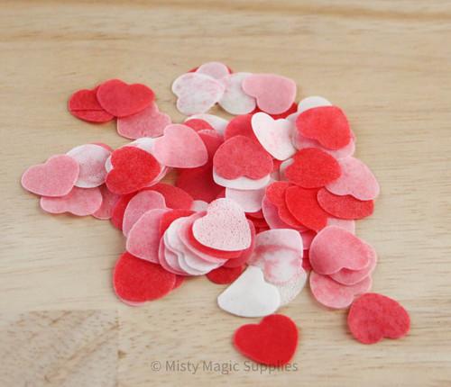 Pink Hearts Bath Confetti 1 oz