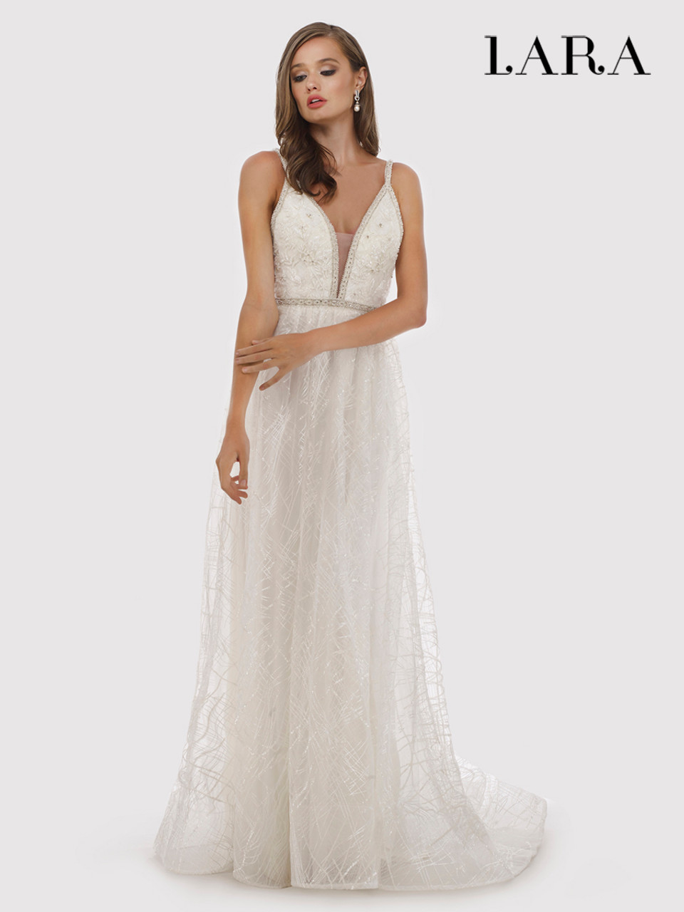 Lara 51024 Beaded A-line Bridal Gown