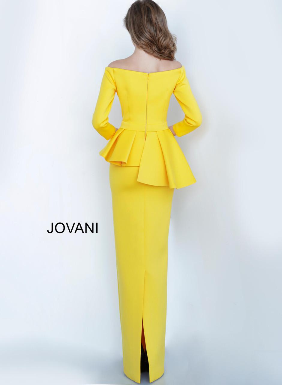 Jovani 2144 Off Shoulder Fitted Evening Dress