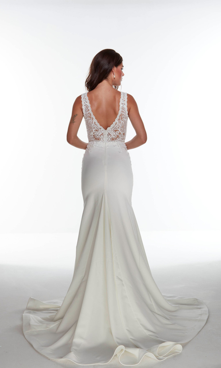 Alyce Paris 7016 Plunging Neckline Long Dress