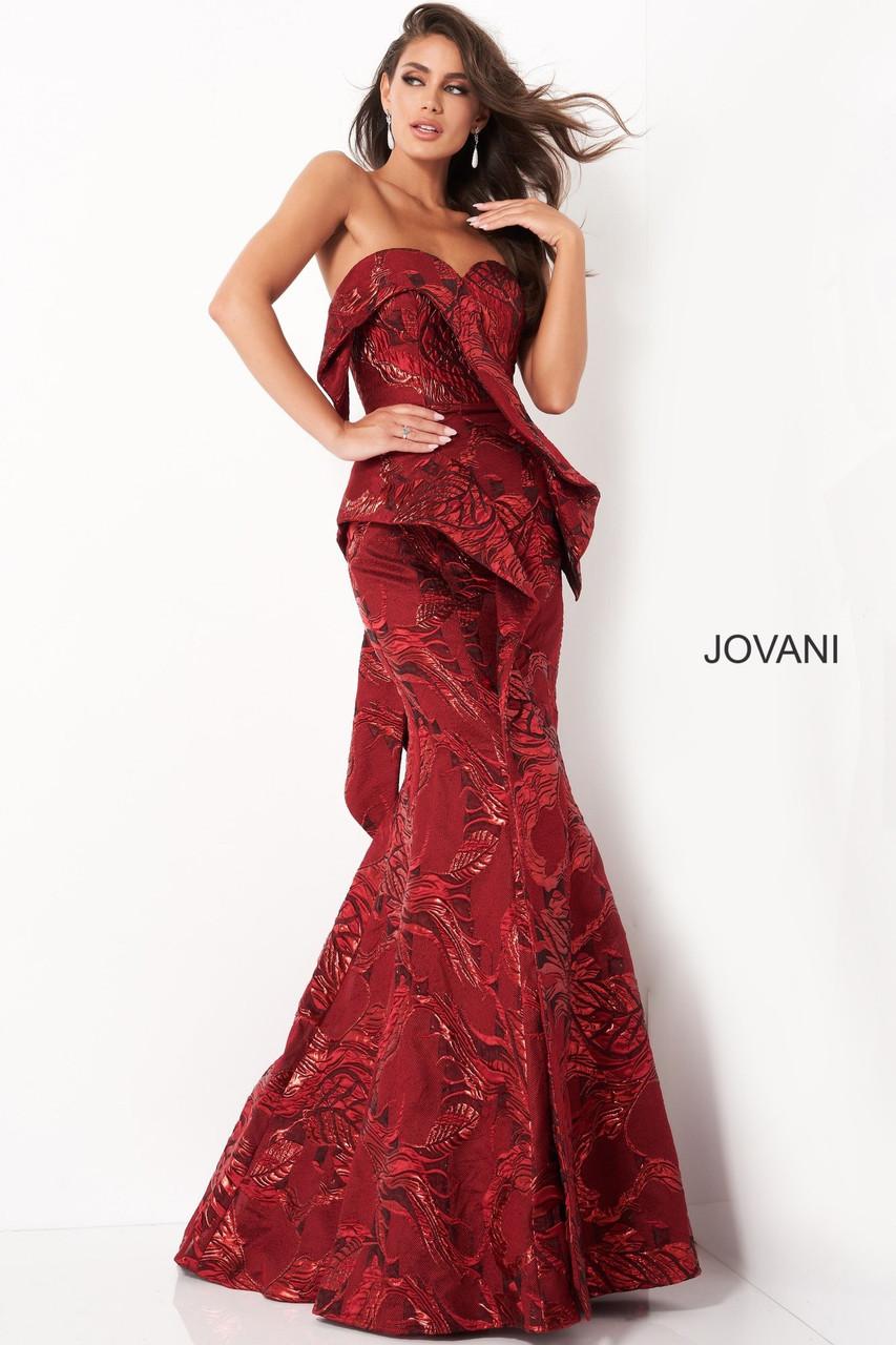 Jovani 05020 Strapless Mermaid Evening Dress