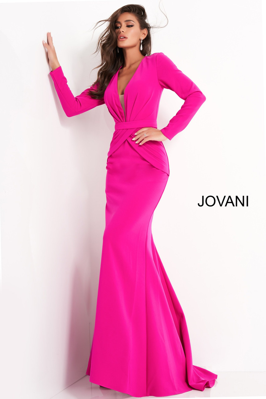 Jovani 1892 Plunging Neckline Evening Dress