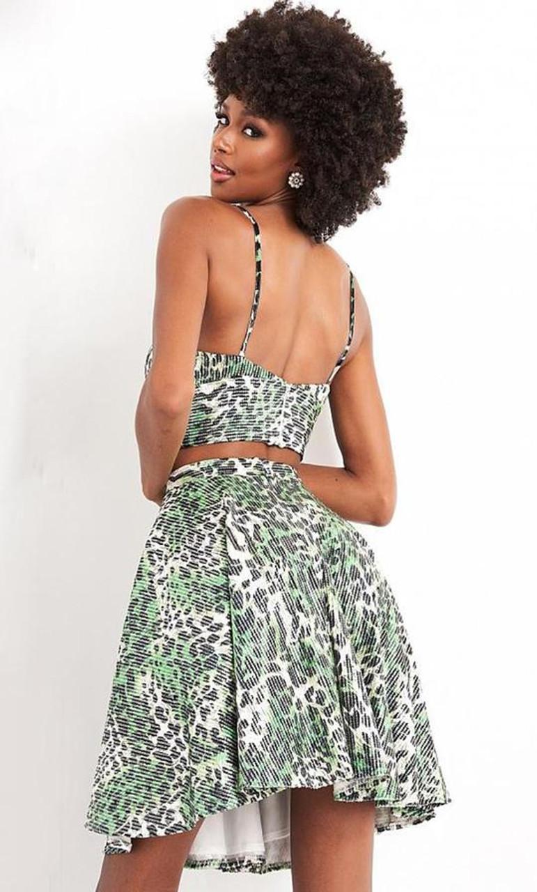Jovani JVN05817 Sweetheart Print A-line Dress