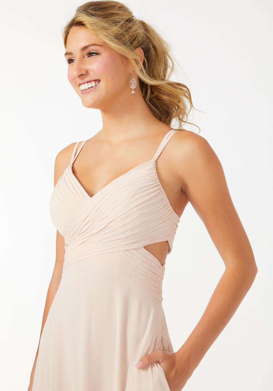 Morilee 21702 Wrapped Cutout Chiffon Bridesmaid Dress