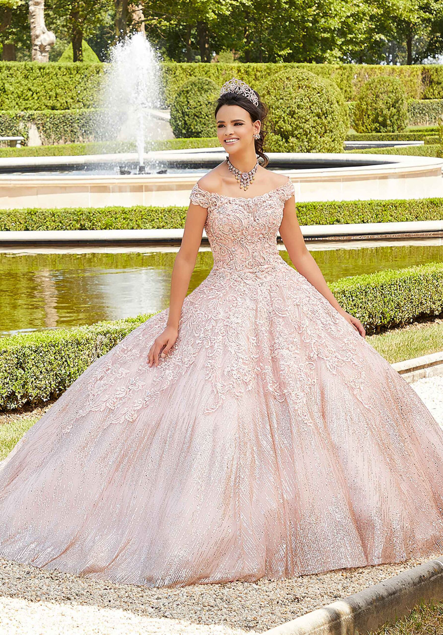 Morilee 89302 Rhinestone and Patterned Quinceanera Dress